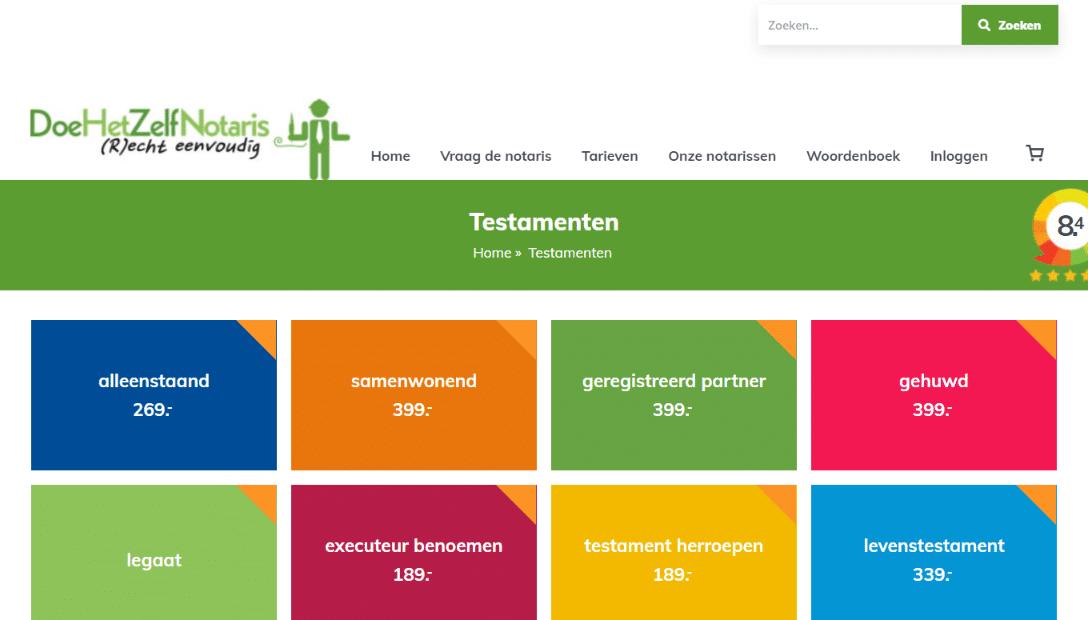 Doe Het Zelf Notarissen testament online opstellen